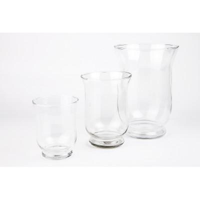 Ensemble de 3 pots en verre transparent