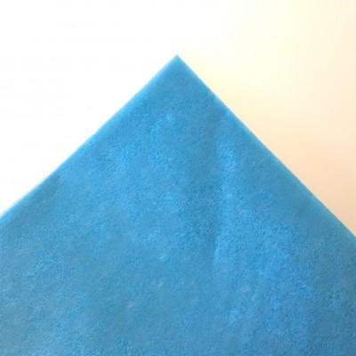 Nappe rectangulaire non tissée turquoise