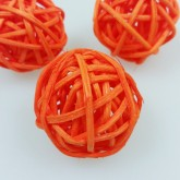 Mini boules en rotin (x12) orange