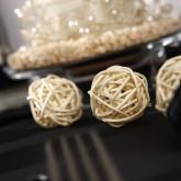 Mini boules en rotin (x12) ivoire