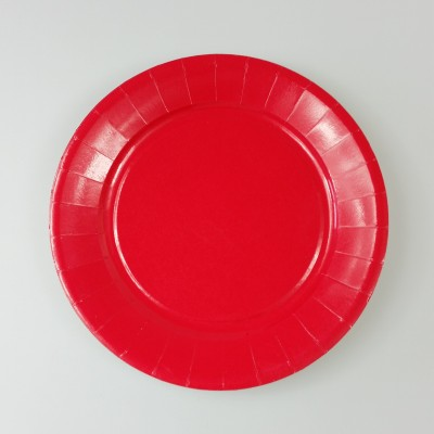 Assiettes carton de couleur (x20) rouge