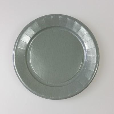 Assiettes carton de couleur (x20) grises