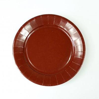 Assiettes carton de couleur (x20) chocolat