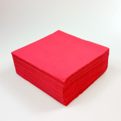 Serviettes papier de couleur rouge (x40)