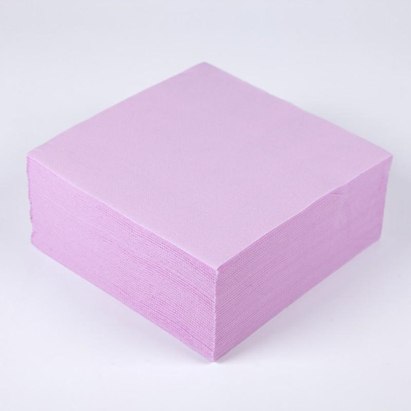 Serviettes papier de couleur rose x40 Pliage avec 2 serviettes en papier