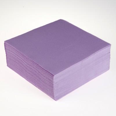 40 serviettes de couleur parme