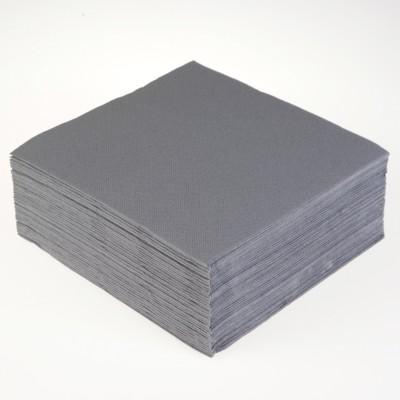 Serviettes papier de couleur grise (x40)