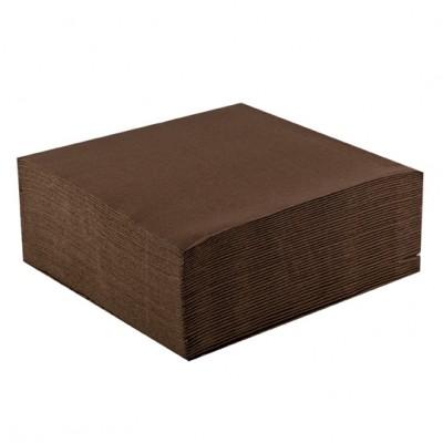 Serviettes papier de couleur (x40) chocolat