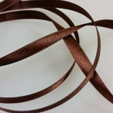 Ruban de satin chocolat