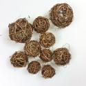 Boules en rotin chocolat (x10)