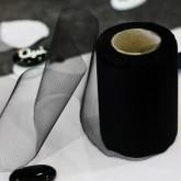 Rouleau de tulle qualité supérieure noir