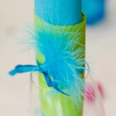 Plumes turquoise (x20)
