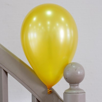 100 ballons nacrés or