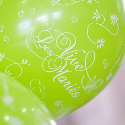 ballons vive les mariés ( x8 ) vert anis