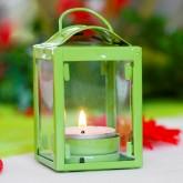 Petite lanterne vert anis