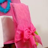 Housses de chaise + noeud en non tissé fuchsia (x10)