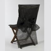 Housses de chaise + noeud en non tissé noir (x10)