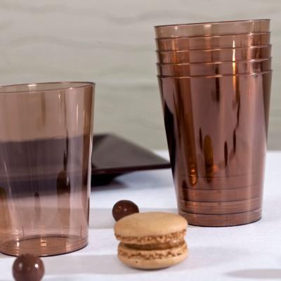 Gobelets en plastique estivaux (x6) chocolat