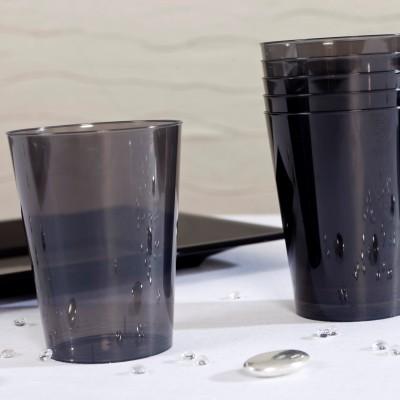 Gobelets en plastique estivaux (x8) noir