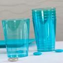 Gobelets en plastique estivaux (x8) turquoise