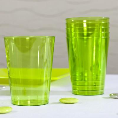 Gobelets en plastique estivaux (x8) vert anis