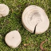 Boite de rondelles de bois flotté naturel