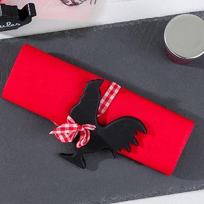 Serviettes en intissé uni (x20) rouge