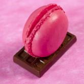 Macaron marque place fuchsia