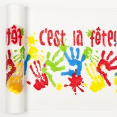 Chemin de table mains d' enfants multicolore