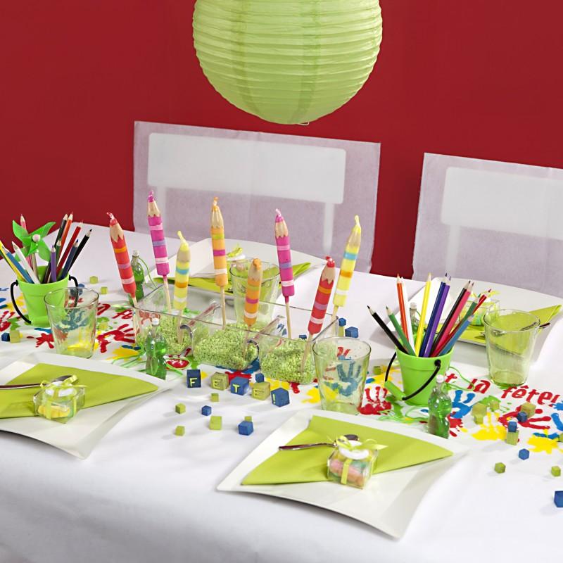 chemin de table mains d 39 enfants multicolore. Black Bedroom Furniture Sets. Home Design Ideas