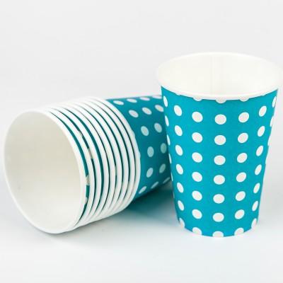 Gobelets à pois (x10) turquoise