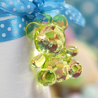Pendentifs oursons (x10) vert anis