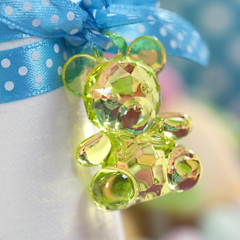 Pendentifs oursons x10 vert anis - Ma plus belle deco bapteme ...