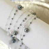 Guirlandes de perles nacrées (x5) argent