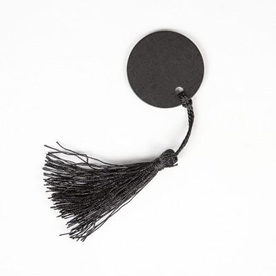 Pompons marque-places Noël (x4) noir