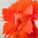 Clips déco papillons orange (x24)