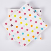Serviettes de Table mini pois (x20) multicolore