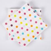 Serviettes de Table mini pois (x20) multicolore