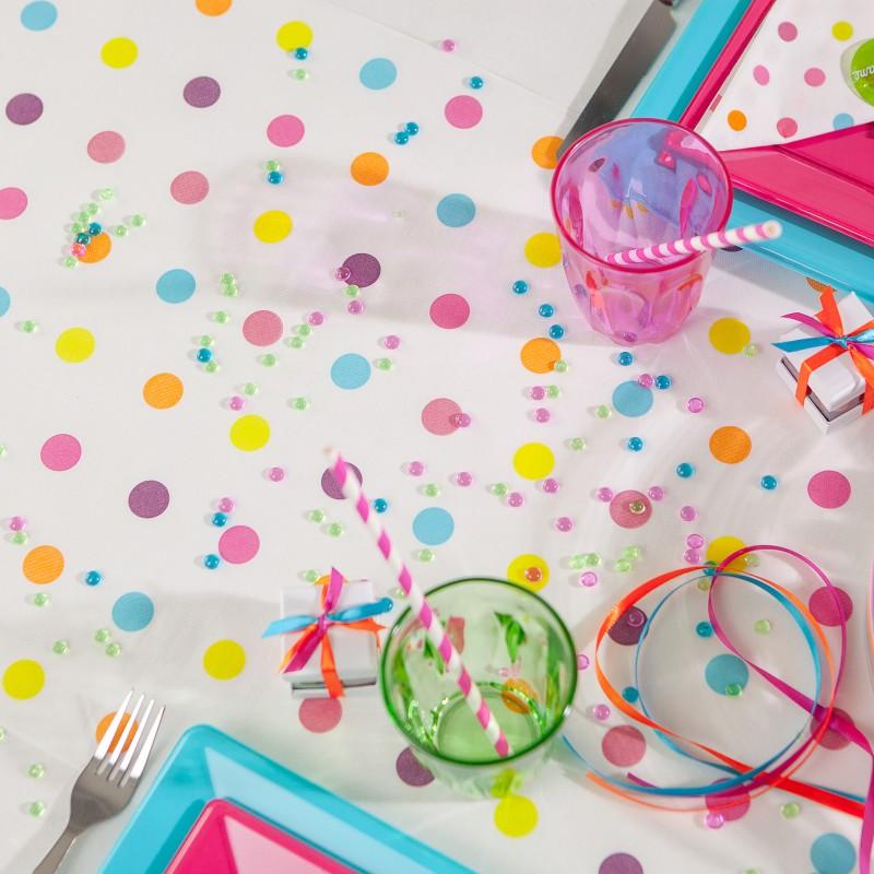 Chemin de table mini pois multicolore - Deco table multicolore ...