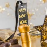Marque-places bouchon de champagne(x2) or
