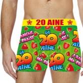 Boxer festif 20 aine Taille S