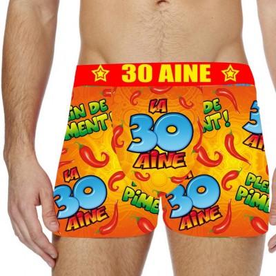 Boxer festif 30 aine Taille S