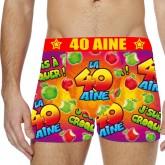 Boxer festif 40 aine Taille XL