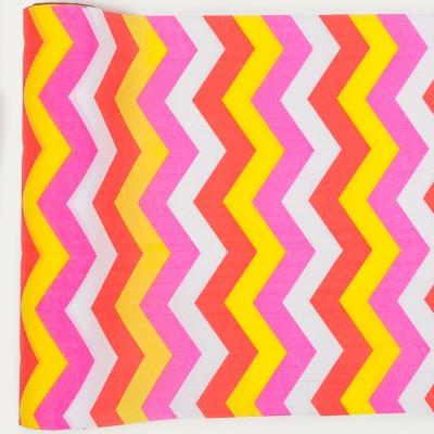 Chemin de table chevron en tissu multicolore - Set de table multicolore ...