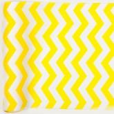 Chemin de table chevron en tissu jaune