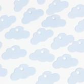 Petites étiquettes nuage (x24) bleu ciel