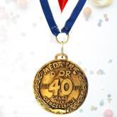 Médaille d'or des 40 ans