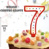 Bougie géante chiffre 7