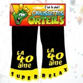 Chaussettes orteils 40 aine noir