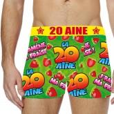 Boxer festif 20 aine Taille L
